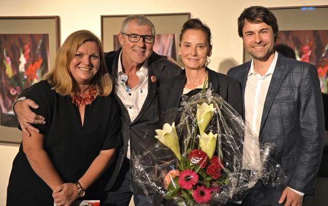 Vernissage - v.l.n.r.: Birgit Kern-Harasymiw, Roman Harasymiw, Gabriella Gerosa, Jan T. Wilms