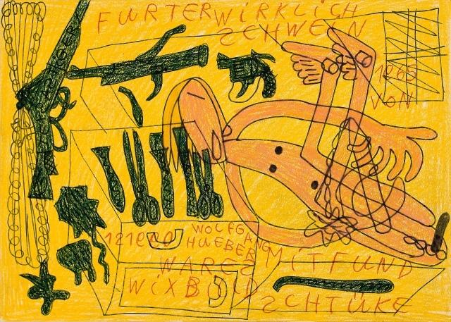 Wolfgang Hueber, Schweinfurter wirklich wares Wix Billd mit Fundschtüke, 1965