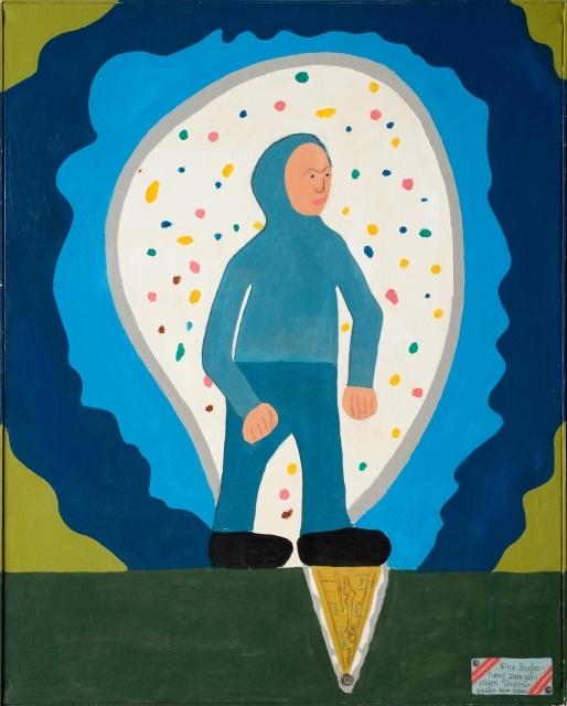 Dietrich Orth, Eine Begleitung zum geistigen Unabhängigsein beim Gehen, 1988, Inv. Nr. D 8076/34