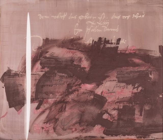 Anne Hitzker-Lubin, Ohne Titel (Sieb eines für Neustadt/Coburg ausgeführten Lutherfensters), 1998, Metall und Gewebe