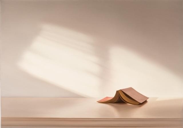 Edite Grinberga, Ecke mit Buch, 2014, Öl auf Leinwand,