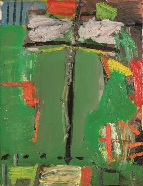Mimmo Paladino, Ohne Titel, 2002, Öl auf Leinwand