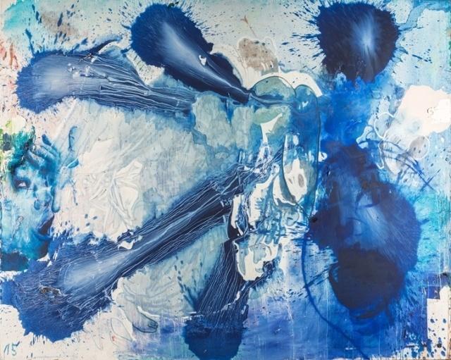 Thomas Lange, melodia apocalittica 15, 2008, Öl auf Leinwand
