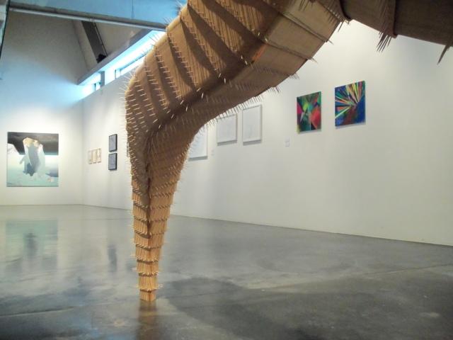 Ausstellungsansicht BLICK FANG mit Werken von Judith Grassl, Thomas Breitenfeld, Kirsten Zeitz und Esther Zellmer