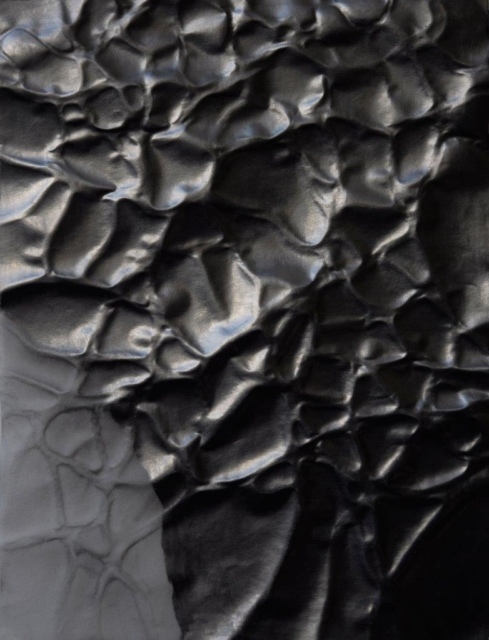 Burga Endhardt, Ohne Titel 3, 2014, Grafit, Transparentpapier, 28 x 21 cm