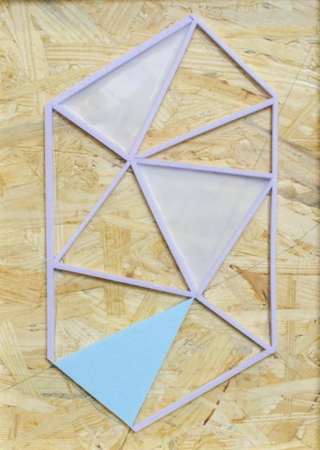 Daniel Engelberg, construction sketch #1, 2016, OSB, Polystyrol, Silikon, 29,7 x 21 cm