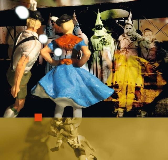 Pit Kinzer, Gerngroß Models Zseitensprünge (Serie 1) 2, 2014, Fotoarbeit auf Hartschaumplatte, 95 x 100 cm