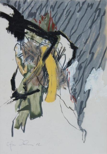 Stefan Wehmeier, Ohne Titel/P40, 2014, Öl, Ölkreide auf Transparentpapier, 29,7 x 21 cm