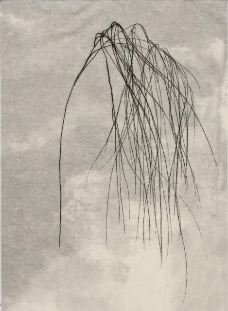 Hana Usui, Jahreszeiten, 2016, Öl und Tusche auf Papier (zweilagig), 33,5 x 24,5 cm