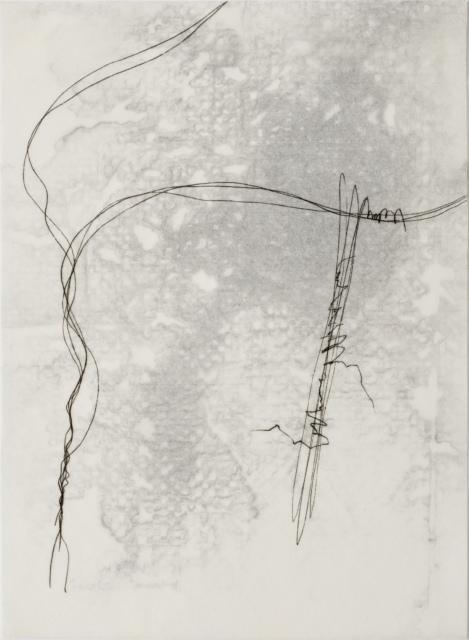 Hana Usui, Ohne Titel, 2014/15, Öl und Tusche auf Papier (zweilagig), 33,5 x 24,5 cm