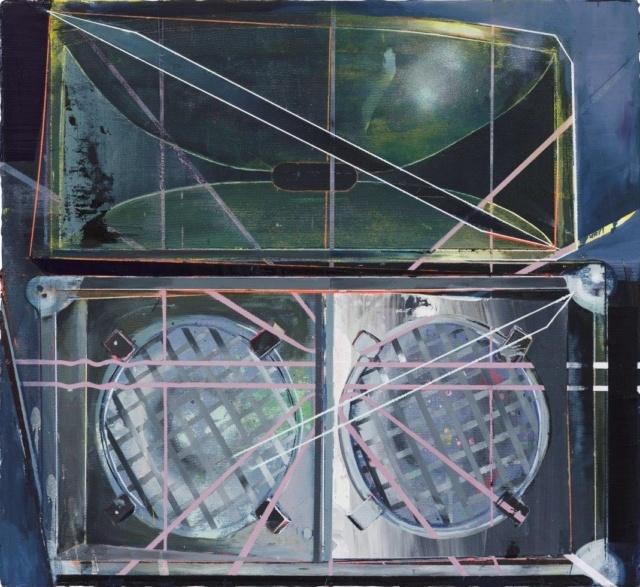 Christian Hellmich, Top A Top, 2015, Öl auf Leinwand, 64 x 72 cm