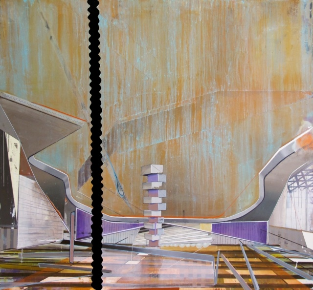 Christian Hellmich, Pool, 2014, Öl auf Leinwand, 170 x 180 cm