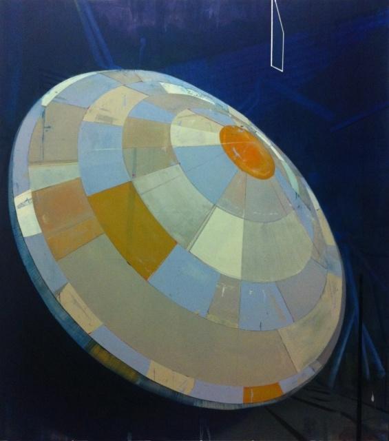 Christian Hellmich, Tourist, 2013, Öl auf Leinwand, 204 x 182 cm