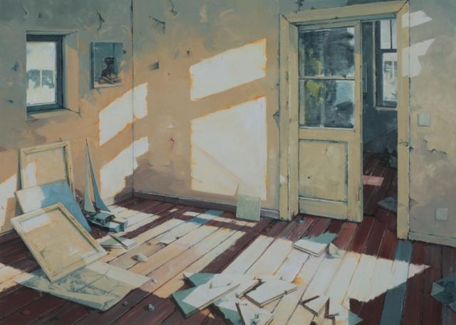 Sven Kroner, Selbst als Zimmer, 2016, Acryl auf Leinwand, 150 x 200 cm