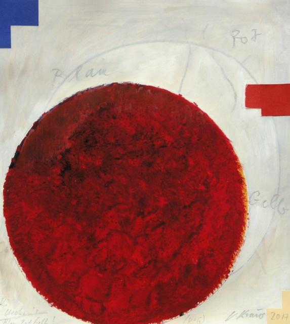 Victor Kraus, Über Uecker: Blau-Rot-Gelb, 2017,