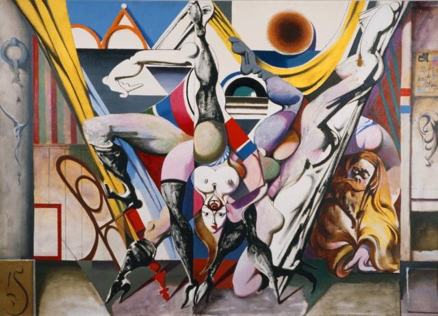 Karl Kunz, Can-Can, 1964, Öl auf Hartfaser, 130,5 x 180 cm