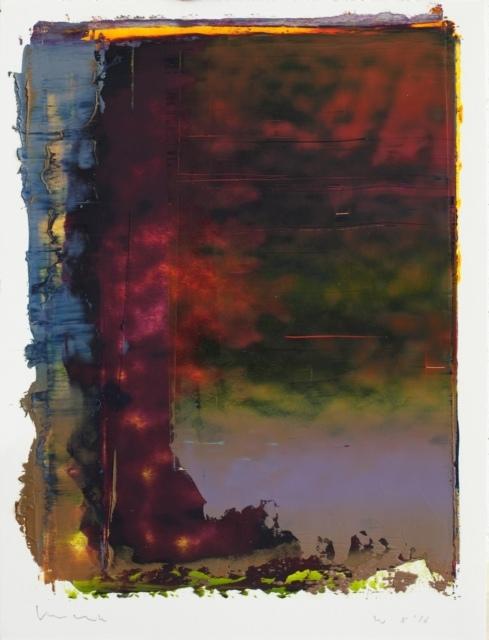 Peter Krauskopf, Kein Titel (Studie W 8/16), 2016, Öl und Alkydharz auf Papier, 40 x 30 cm