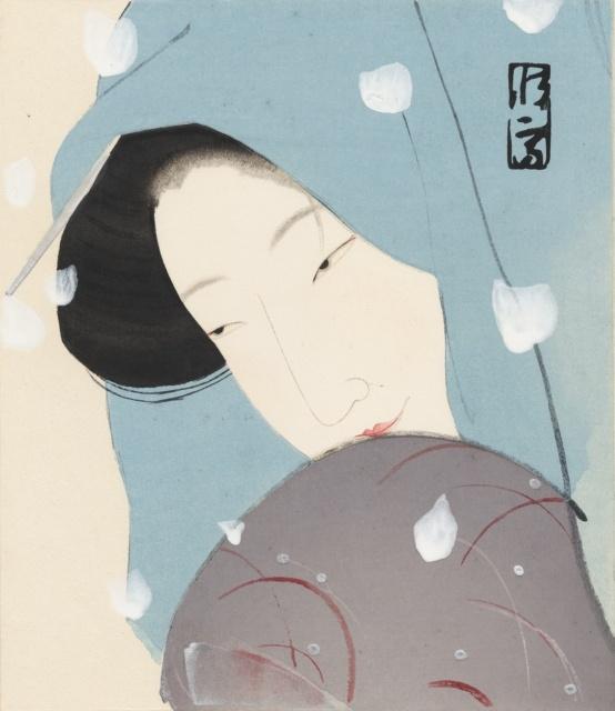 Kitano Tsunetomi, Die Heldin Umekawa, um 1923, Farbholzschnitt