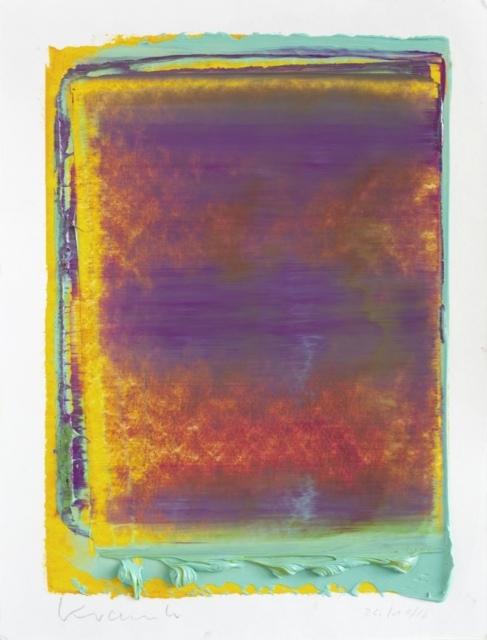 Peter Krauskopf, Studie 24/11/16, 2016, Öl und Alkydharz auf Bütten, 40 x 30 cm