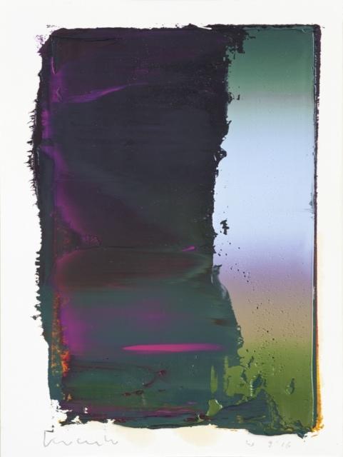 Peter Krauskopf, Studie W 9/16, 2016, Öl und Alkydharz auf Bütten, 40 x 30 cm