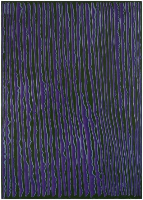 Peter Krauskopf, LILA Z, B 520218, 2018, Öl auf Leinwand, 240 x 170 cm