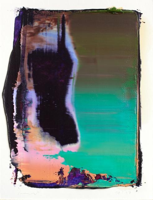 Peter Krauskopf, Studie 10/17, 2017, Öl und Alkydharz auf Bütten, 40 x 30 cm