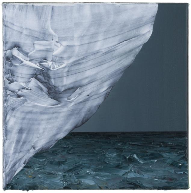 David Borgmann, Ohne Titel (ST 42), 2018, Öl auf Leinwand, 30 x 30 cm