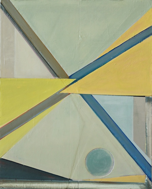 Raik Gupin, Ohne Titel, 2017, Öl, Papier, Wachs, Harz, Gesso auf Holz, 50,5 x 40,5cm