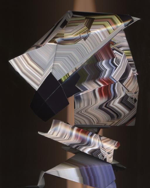 Kathrin Ganser, Faltungen (Gyrosensor models), 2018, Lambda Print, 50 x 40 x 3 cm