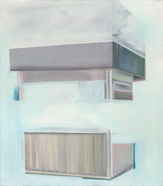 Birte Horn, teile_2, 2015, Öl auf Leinwand, 80 x 70 cm