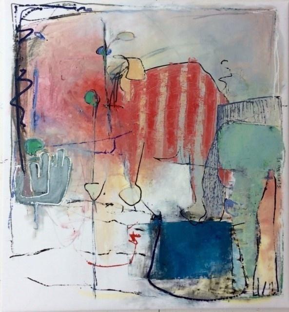 Sigrid W. Mathews, Ohne Titel, 2017, Öl auf Leinwand, 130 x 140 cm