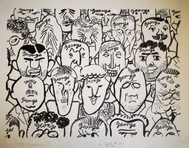 George Grosz, Georges - by Frank Sullivan, um 1937, Tuschpinsel, Rohrfeder, Feder und Deckweiß, 462 x 593 mm,