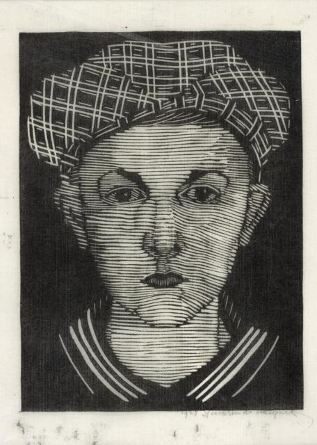 Samuel Jessurun de Mesquita, Ohne Titel (Jantje Scherpenzeel), 1927, Holzschnitt, 195 x 145 mm,