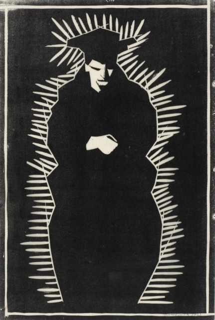 Samuel Jessurun de Mesquita, Ohne Titel (Stehende Figur), 1923, Holzschnitt, 390 x 265 mm,