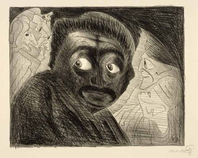 Jessurun de Mesquita, Ohne Titel (Fantasie), 1915, Kreidelithografie, 240 x 300 mm,