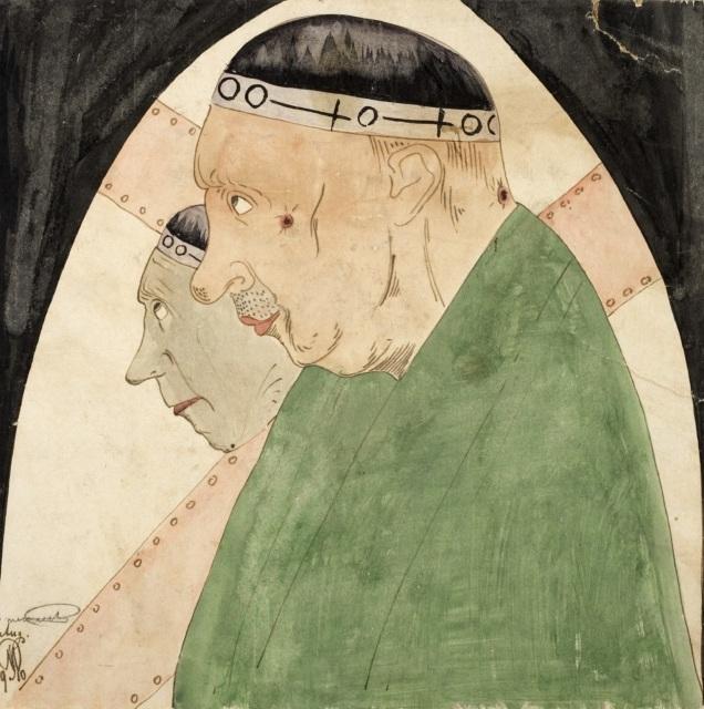 Samuel Jessurun de Mesquita, Ohne Titel, 1910, Aquarell und Tusche, 311 x 313 mm,