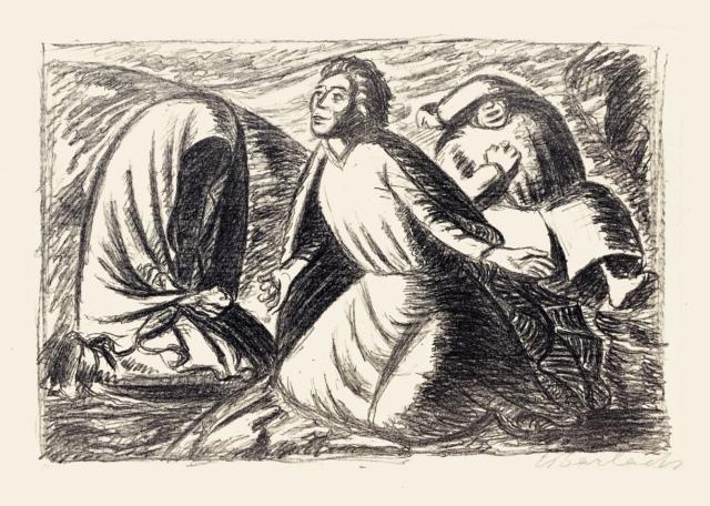 Ernst Barlach, Hoffnung und Verzweiflung II (Erleben), um 1931, Lithographie, 293 x 453 mm,
