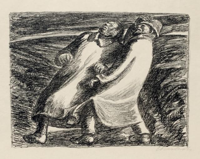 Ernst Barlach, Panischer Schrecken, um 1928/30, Lithographie, 322 x 430 mm,