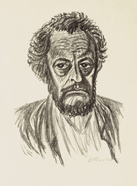 Ernst Barlach, Selbstbildnis I, 1928, Lithographie, 445 x 319 mm,