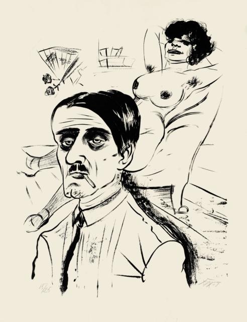 Otto Dix, Louis und Vohse, 1923, Lithografie, 555 x 425 mm,