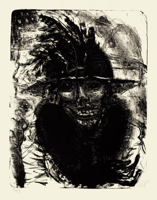 Otto Dix, Nächtliche Erscheinung, 1923, Lithografie, 483 x 371 mm,