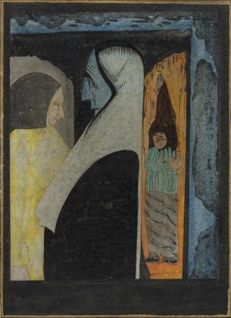Samuel Jessurun de Mesquita, Ohne Titel, 1922, Tusche und Aquarell über Bleistift, 317 x 233 mm,