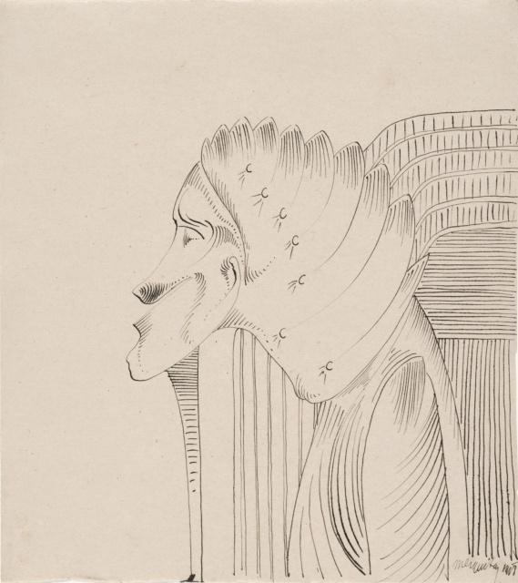 Samuel Jessurun de Mesquita, Ohne Titel, undatiert, Tusche, 190 x 169 mm,