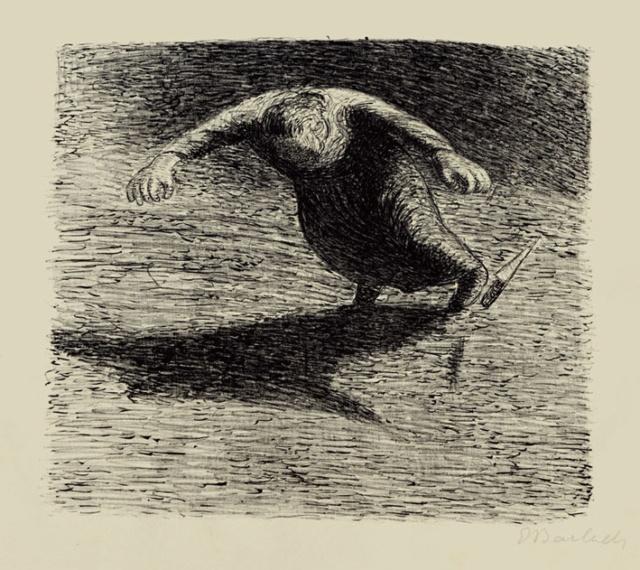 "Stürzende Frau, 1912, Lithografie für das Drama ""Der tote Tag"", 271 x 318 mm,"