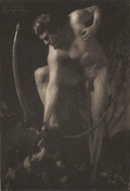 Frank Eugene, Männlicher Akt, 1914, Heliogravüre,