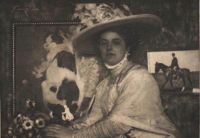 Frank Eugene, Léonie Hohlwein, Ehefrau des Grafikers Ludwig Hohlwein, um 1908, Heliogravüre