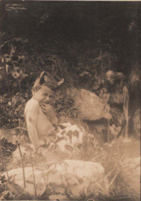 Frank Eugene, Der kleine Faun, 1908, Platinotypie,