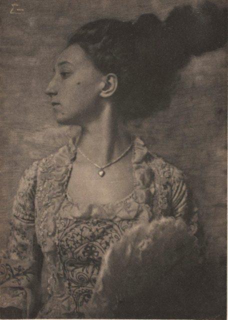 Frank Eugene, Emmy Geiger, um 1908, Platinotypie,