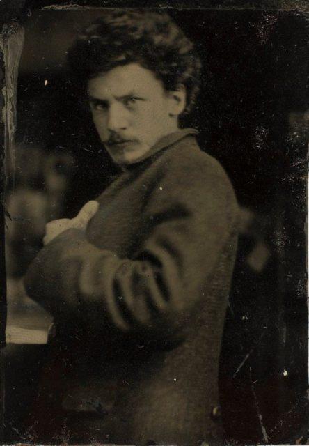 Frank Eugene, Selbstportrait, um 1890, Ferrotypie,
