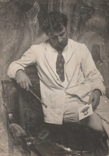 Frank Eugene, Selbstportrait als Maler, 1895, Platindruck,